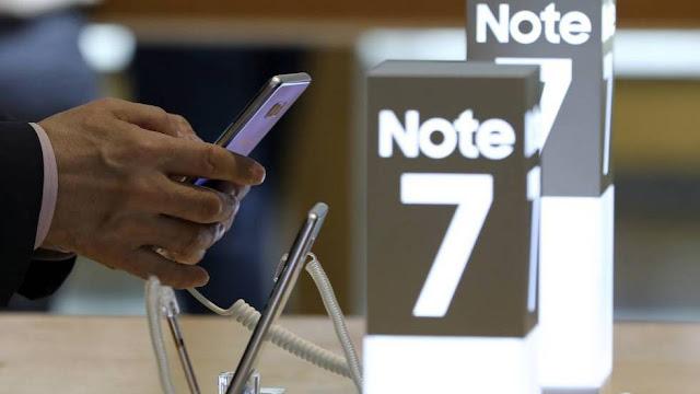 Samsung interrompe a produção do Galaxy Note 7 após incêndio de várias baterias