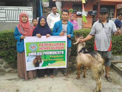 BSI Serahkan Hewan Kurban Kepada 4 Desa
