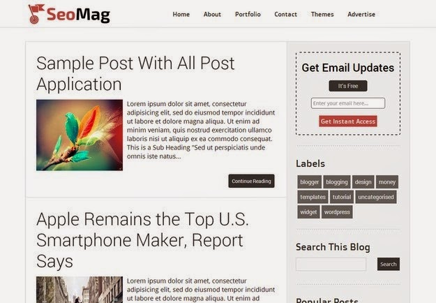 SEO Ready Blogger Templates 2015 Free Download