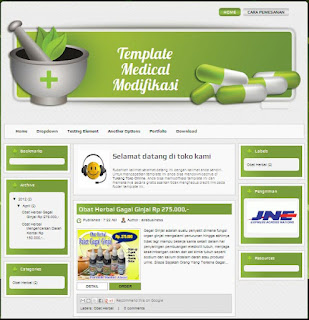 Blogger Template hasil modifikasi dari Template Medical