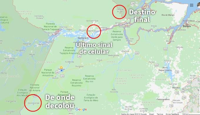 Família descobre a última localização do celular de integrante do avião desaparecido