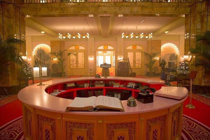Grand Budapest Hotel, wnętrza, gdzie kręcono, scenografia