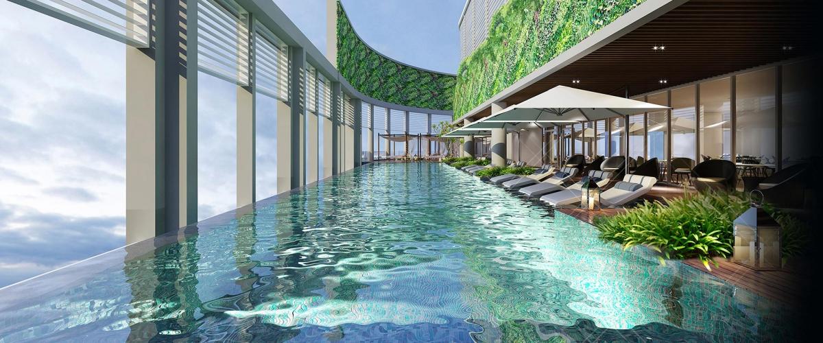 Bể bơi trên không của Luxury Apartment