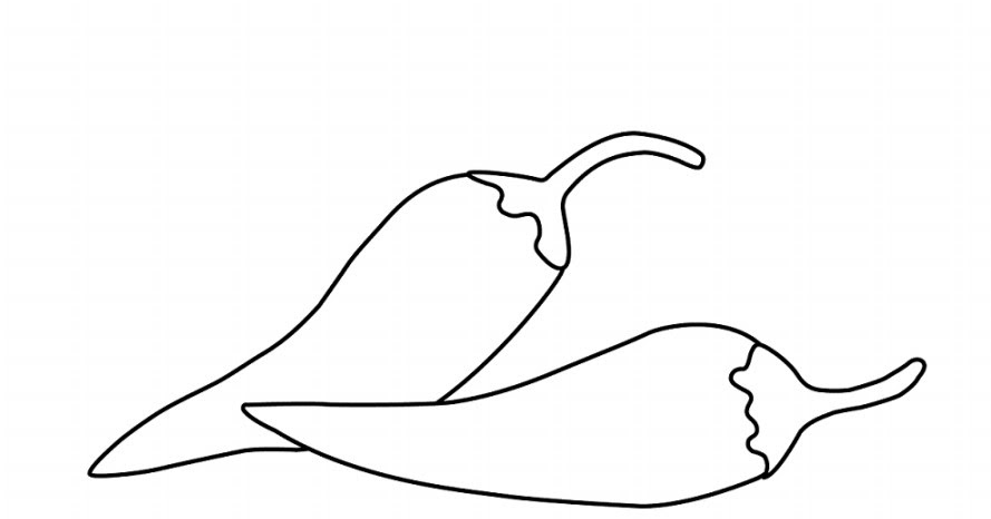 Download Gambar  Sketsa  Hitam Putih Mewarnai Cabai Terbaru
