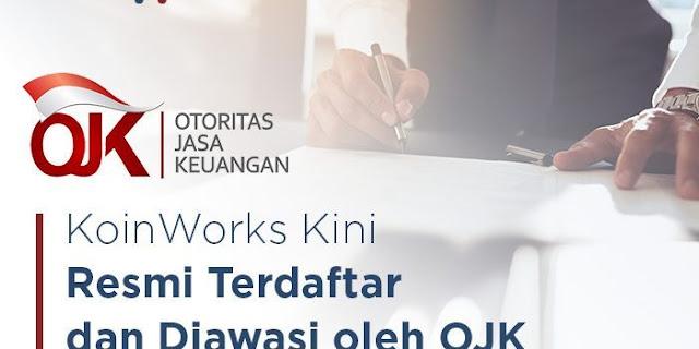 Koinworks sudah bekerja sama dengan OJK - Pengalaman Investasi di Koinworks By Bibah Debora