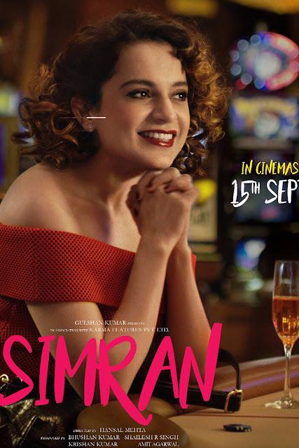 Simran Movie HD Poster Image 2017