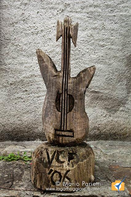 Scultura in legno a Sonogno
