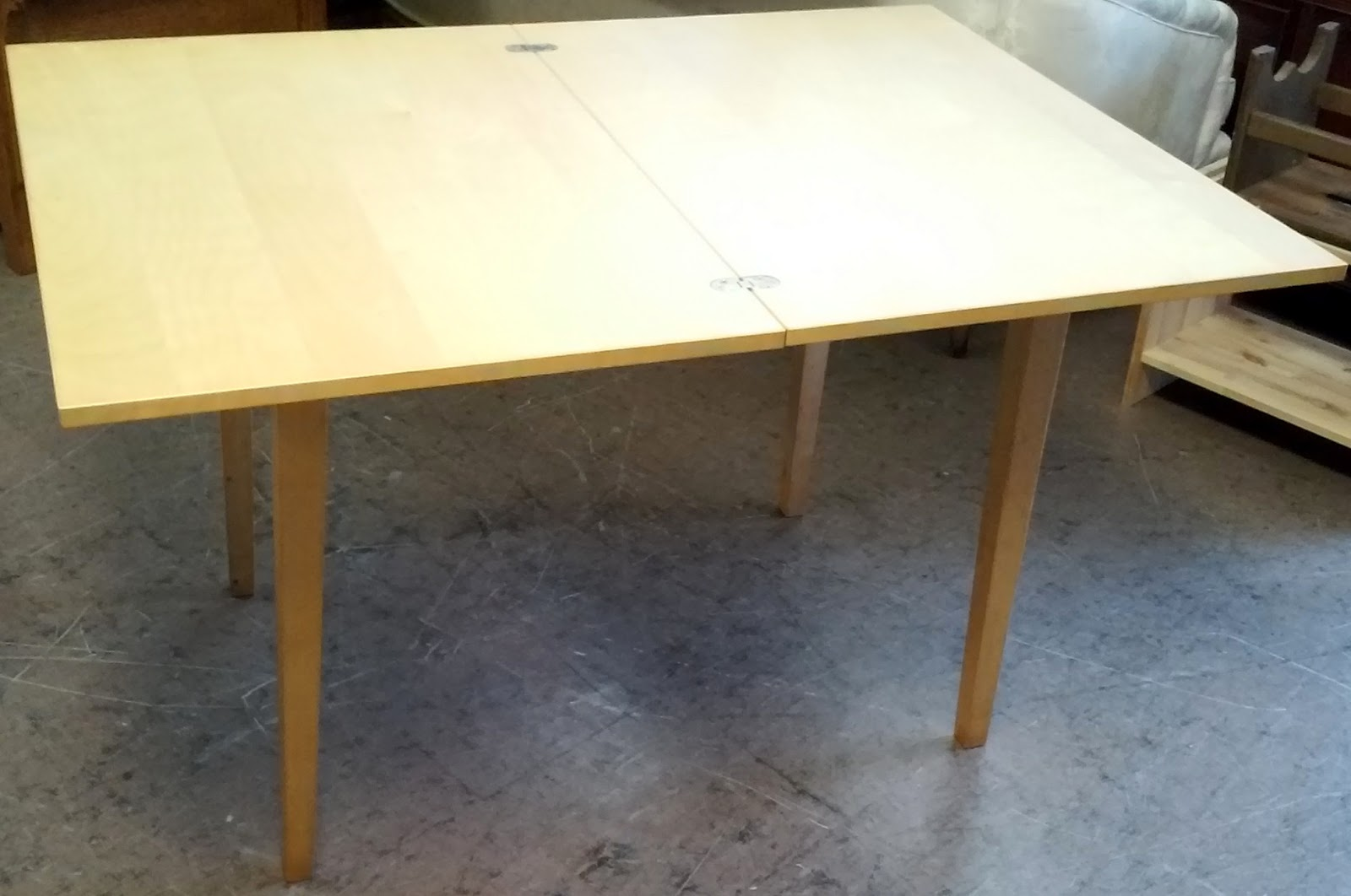 Sold Ikea Jussi Twist And Fold Table 3 X 2 Doubles In Size 80