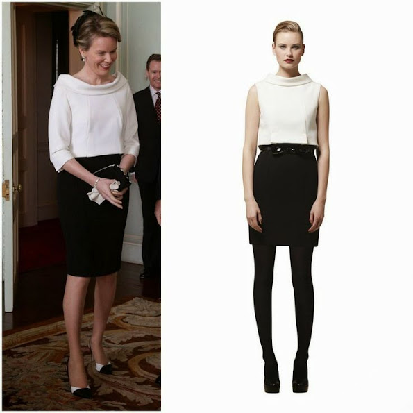 Queen Mathilde of Belgium wore Natan Top and Skirt, Queen Mathilde style