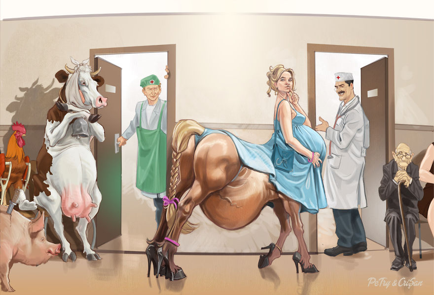 These 12 Satirical Cartoons Depict The Disturbing Reality Of Modern-Day Society - Doctor or Veterinary? Both!
