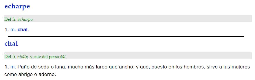 Echarpe - definición