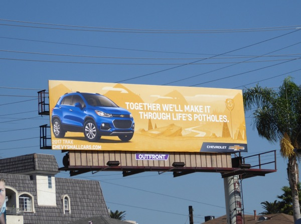 Chevrolet small cars lifes potholes billboard