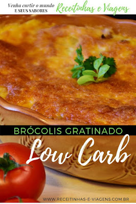 Brocolis com creme de leite low carb
