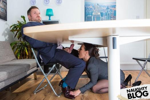 Big Tits At Work – Mea Melone: Under The Table Deal