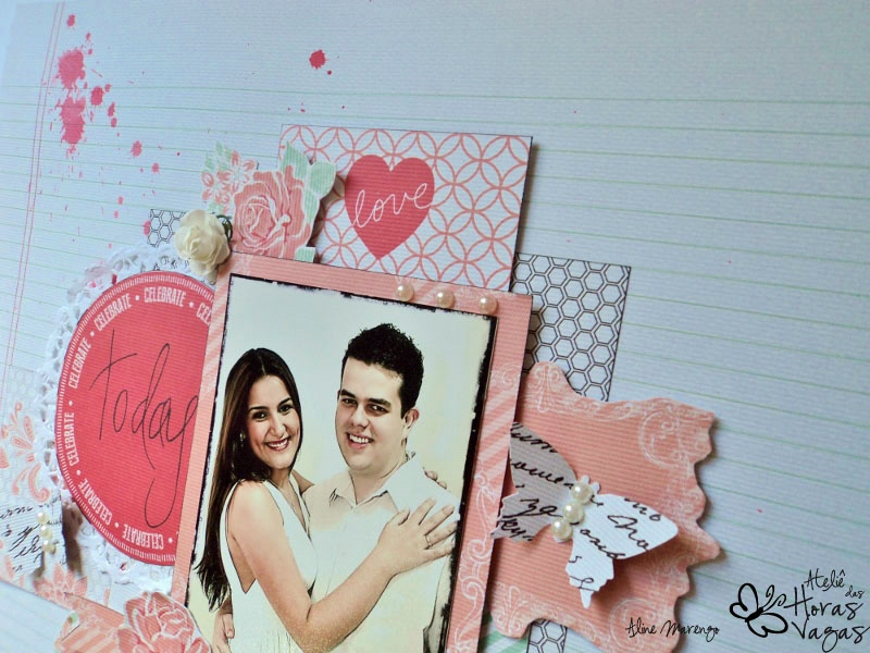 scrapbookin scrap scrapbook layout LO Teresa Collins save the date