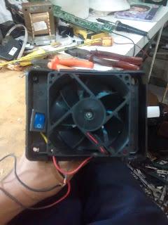 instalação do cooler no interruptor