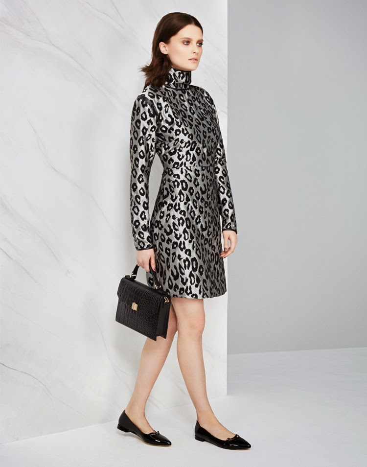 MARKS AND SPENCER AUTOGRAPH DRESS £59, BAG £79, SHOE £25