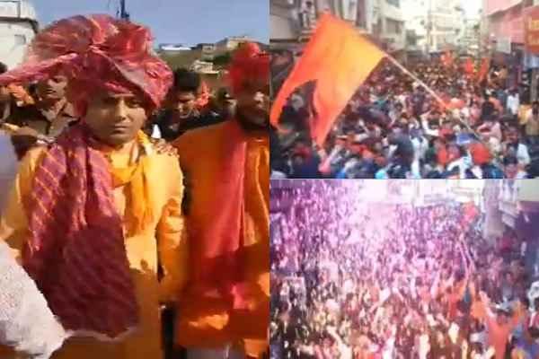 updesh-rana-warm-welcome-in-sagar-mp-baba-ki-baaraat-news