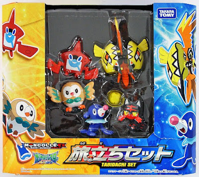 Rotom Pokedex figure Takara Tomy Monster Collection MONCOLLE EX Starter 5 figures set