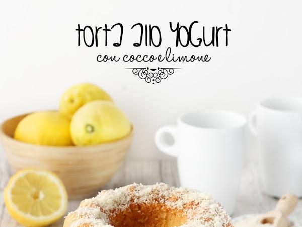 Torta allo yogurt con cocco e limone