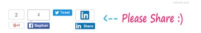 Cara Membuat Tombol Share Sosial Media Seperti Milik Mas Sugeng