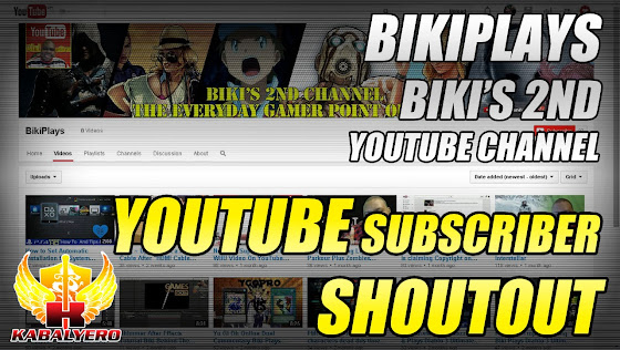 YouTube Subscriber Shoutout ★ BikiPlays