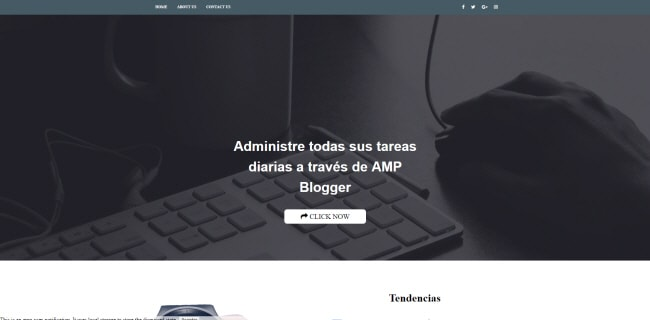 Landing Page AMP Blogger Template, download free blogspot theme 2018