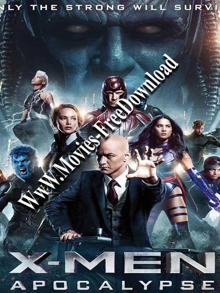 X-Men Apocalypse 2016 HINDI DUBBED BluRay 480p 340MB Poster
