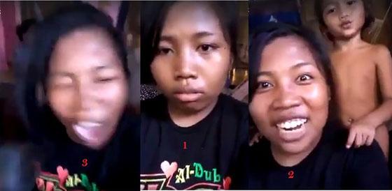 Video Lucu: Cewek Lipsing Dengan Adiknya Yang Telanjang Malah Dilempar Piring Oleh Ibunya