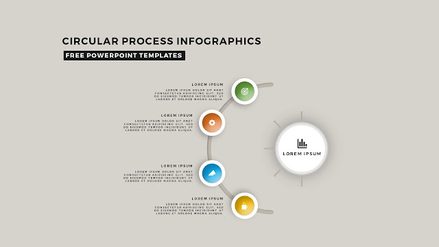 Circular Process Diagram Infographic Free PowerPoint Template Slide 9
