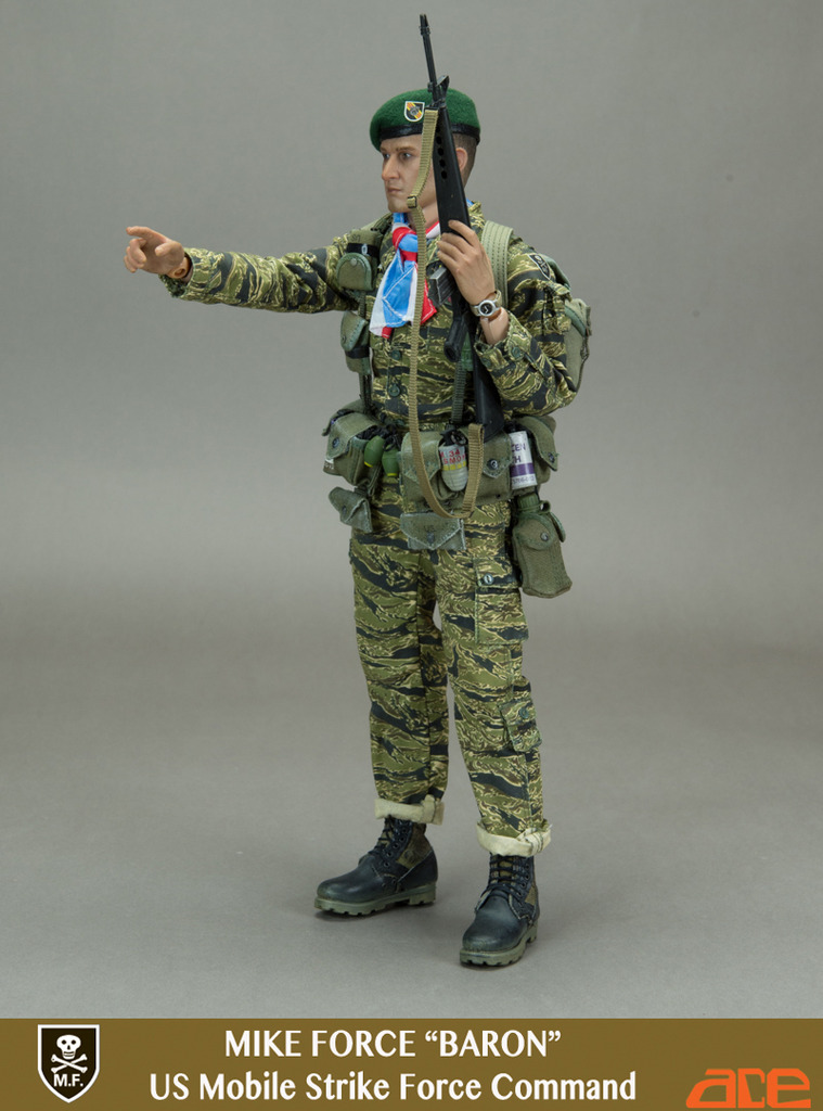 1:6 Scale ace 13032 Mike Force Baron US Mobile Strike Force Command Vietnam war