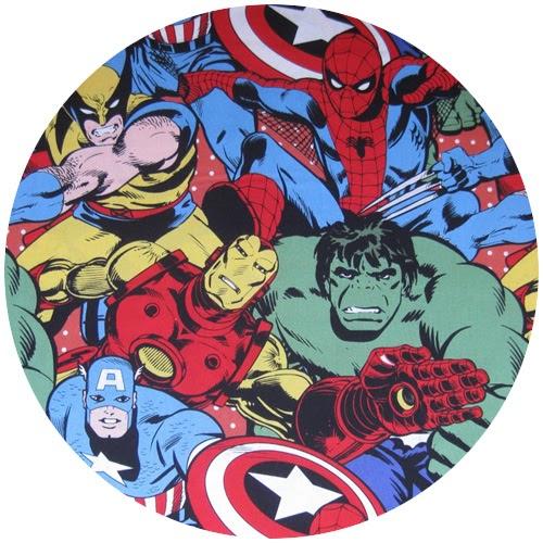 Retro Marvel Comics Fabric!