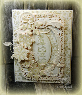ODBD Products - Snowflake Background, Sparkling Snowflakes, ODBD Custom Snowflakes Die, Snowy Blessings