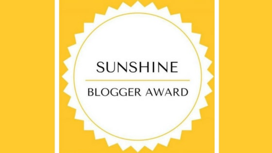 Nominated for the Sunshine Blogger Award