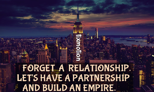 Empire State Building Quote: [FORGET A RELATIONSHIP]#New_York #Empire #State_Building