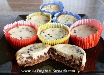 Chocolate Chip Cheesecake Cups  | www.BakingInATornado.com | #recipe