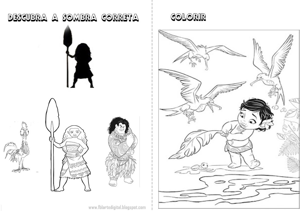 FBL Arte Digital: Livrinho De Atividades Com Tema Moana