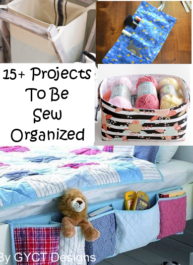 Great list of things to sew for the home and help get every room organized.