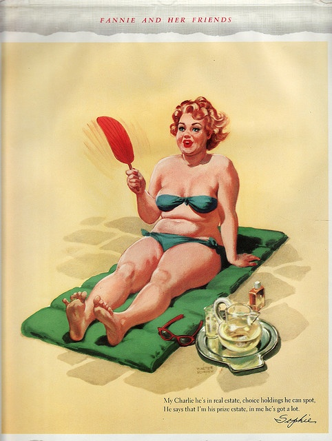 Fannie and her friends,  Hilda pinup girl, Plus size pinup girl,