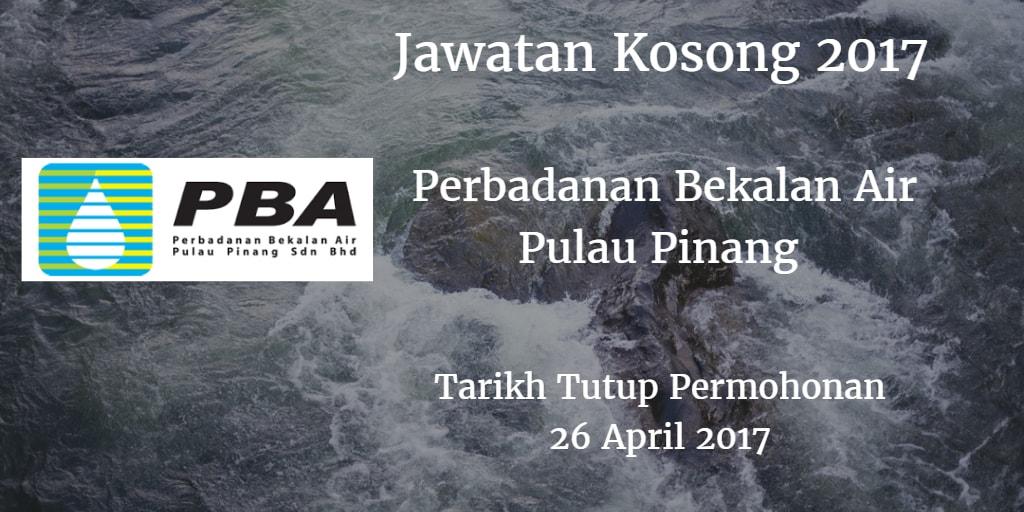 Jawatan Kosong PBA 26 April 2017