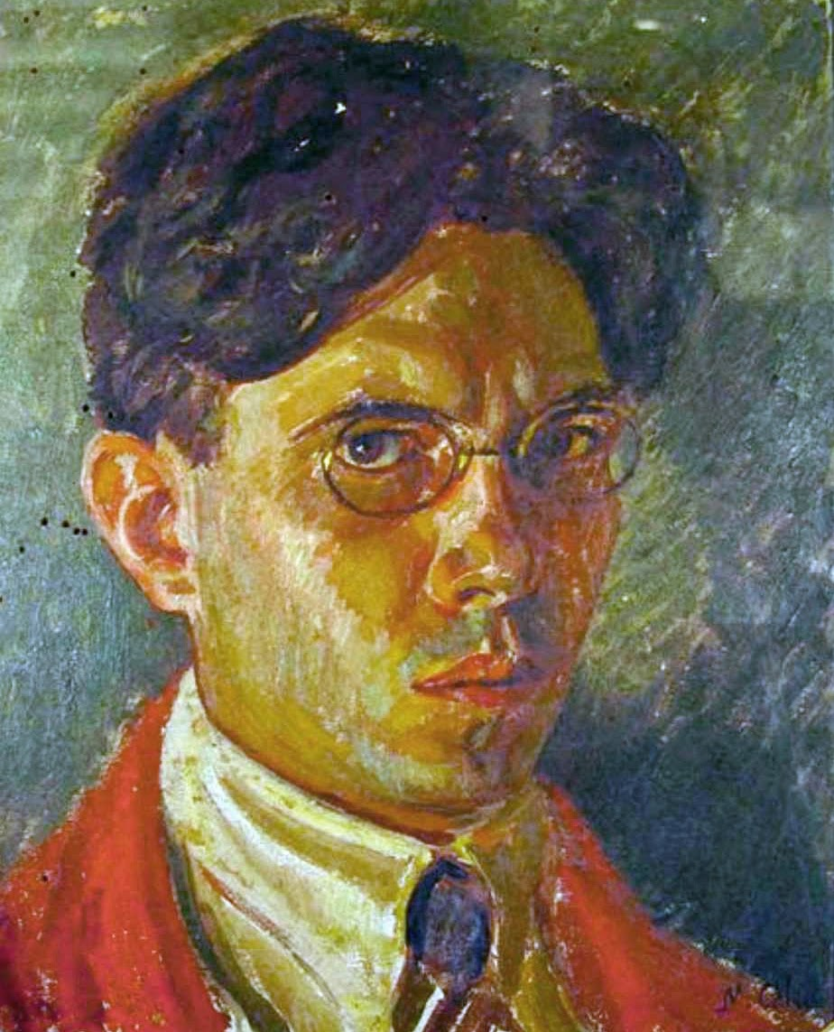 Manuel Cabré, Self Portrait, Portraits of Painters, Fine arts, Portraits of painters blog, Paintings of Manuel Cabré, Painter Manuel Cabré