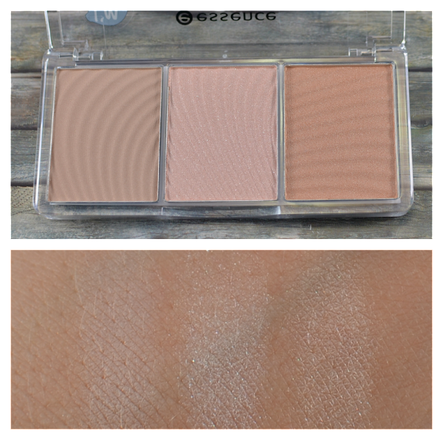 Essence light up your face luminizer Palette 10 ready set glow Swatches