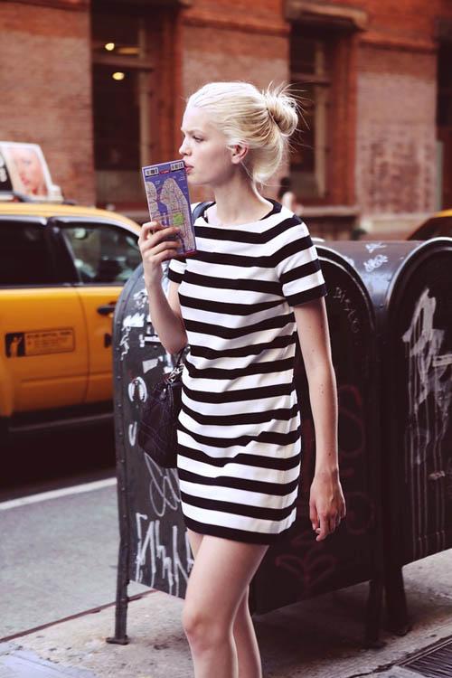 rayas blanco negro streetstyle