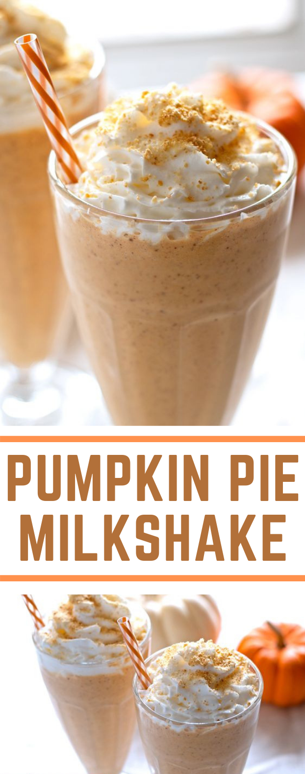 Pumpkin Pie Milkshake #Summer #Drinks