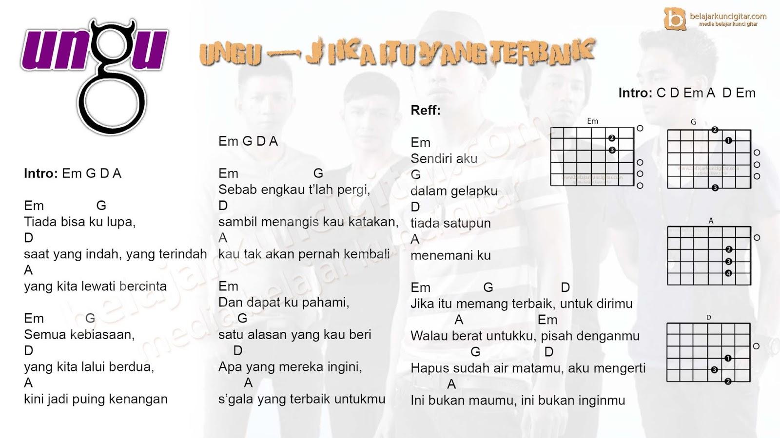 5 Kunci gitar lagu Ungu yang populer  belajar kunci gitar