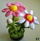 patron gratis flor amigurumi, free amigurumi pattern flower