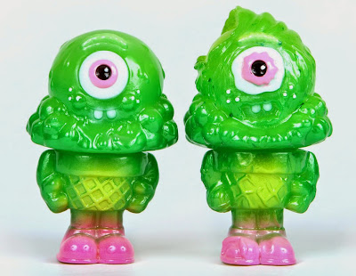 Slime Green Mister Melty & Zombie Mister Melty Vinyl Figures by Buff Monster
