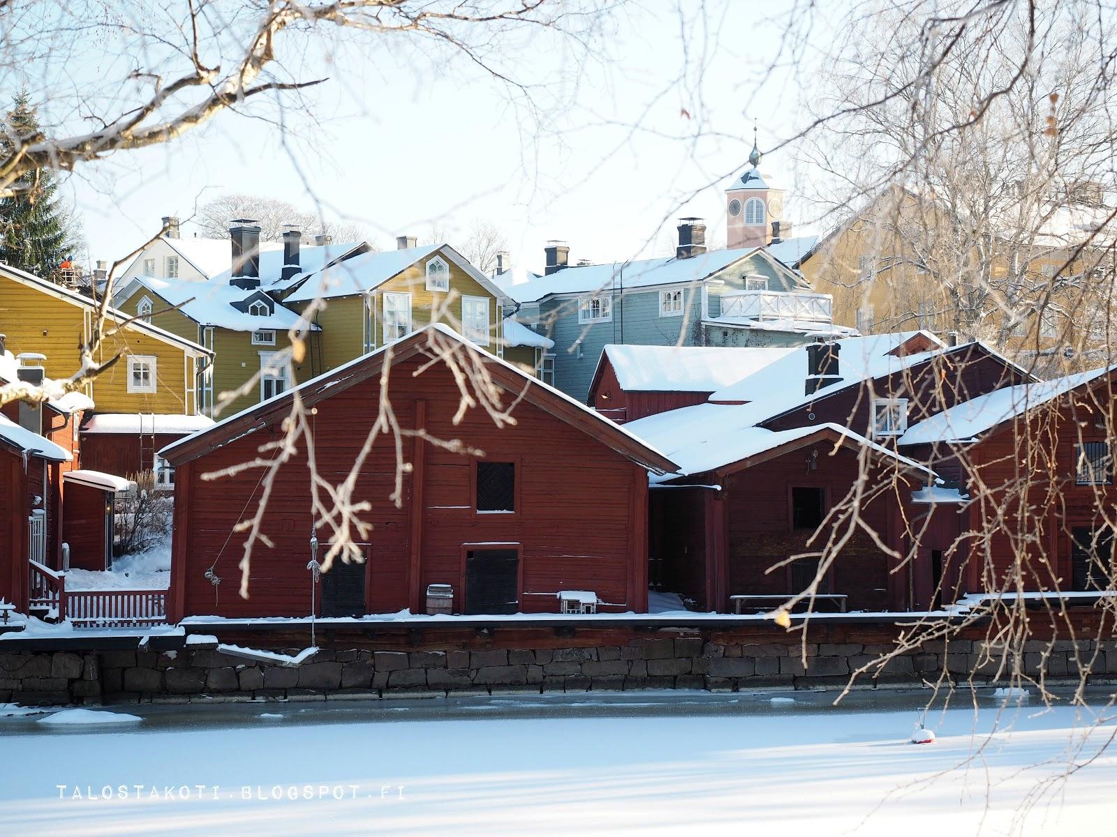 Porvoo, talvinen maisema, vanha kaupunki