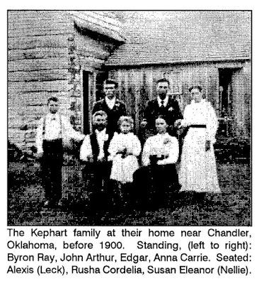 Alexis Kephart Family Near Chandler Oklahoma Ancestry Chick