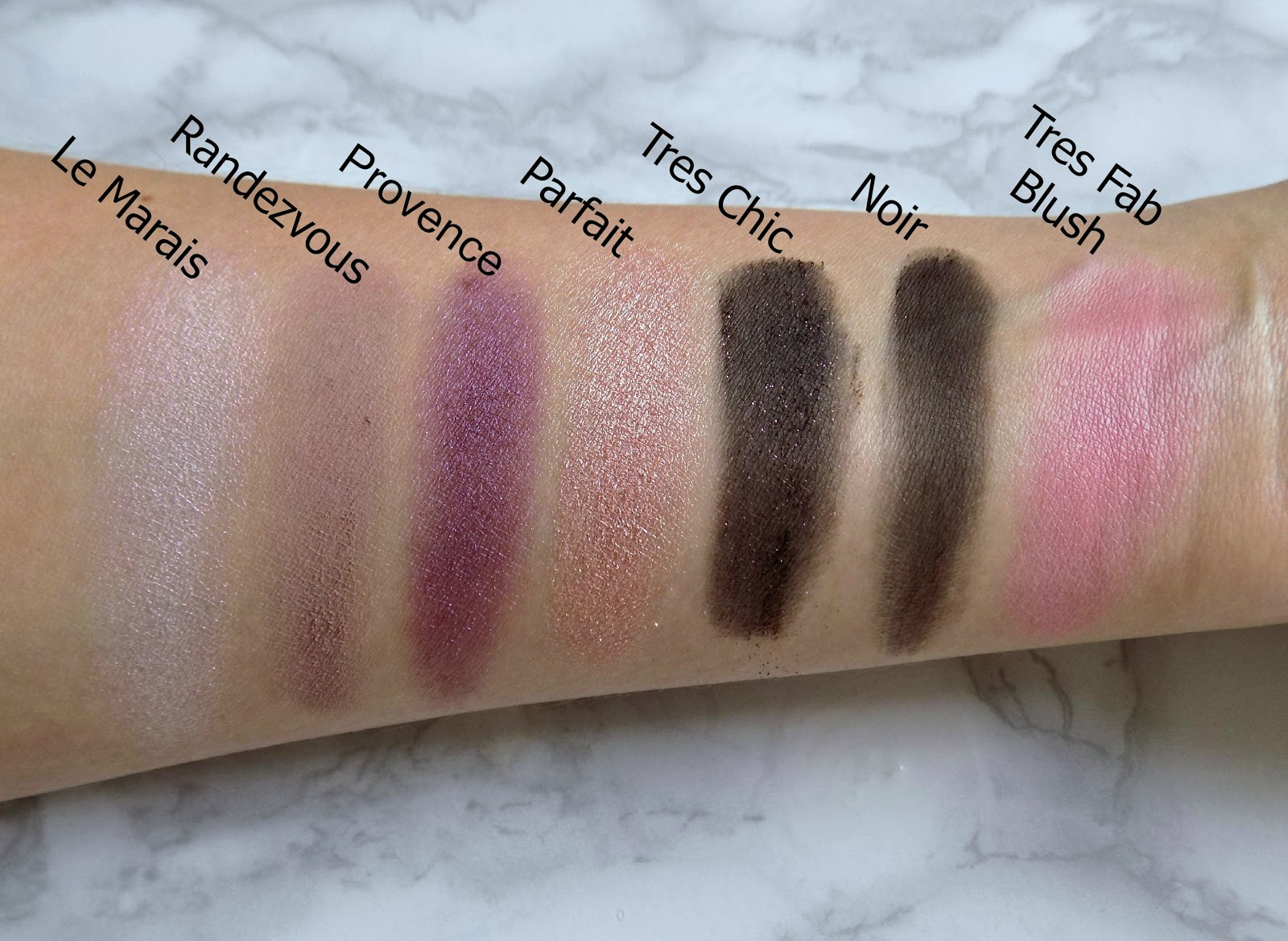 Too Faced 'Le Grand Chateau' Holiday set swatches